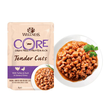 Pack 24 Sobres Wellness Core Feline Tender Cuts 85 gr