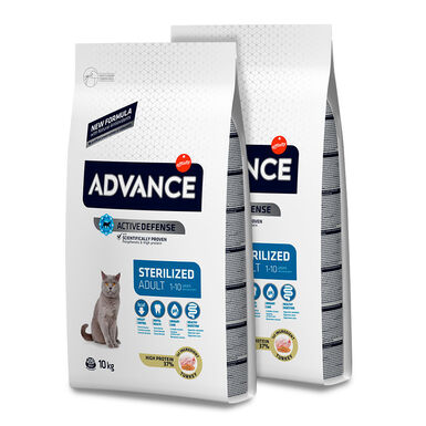 Advance Feline Sterilized pavo y cebada - 2 x 10 kg