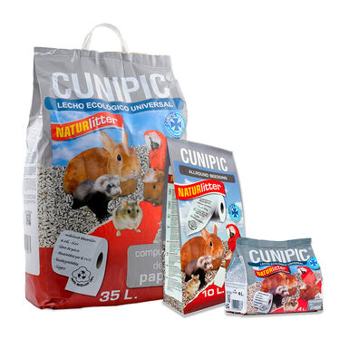Lecho para aves y roedores Naturlitter papel Cunipic