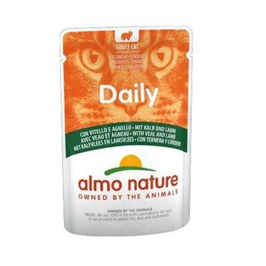 Almo Nature Daily comida Húmeda  ternera y cordero