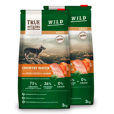 True Origins Wild Dog Country Water Adult - 2x3 kg Pack Ahorro