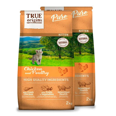 True Origins Pure Kitten Poultry Pollo - 2x2 kg Pack Ahorro