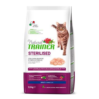 Pienso para gatos Natural Trainer Sterilised White Meat 1.5 kg