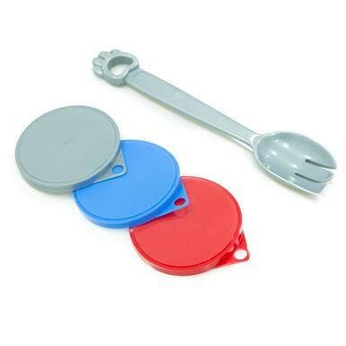 TK Pet con cuchara tapas para latas de comida