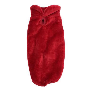 Jersey rojo efecto terciopelo de Outech para perro