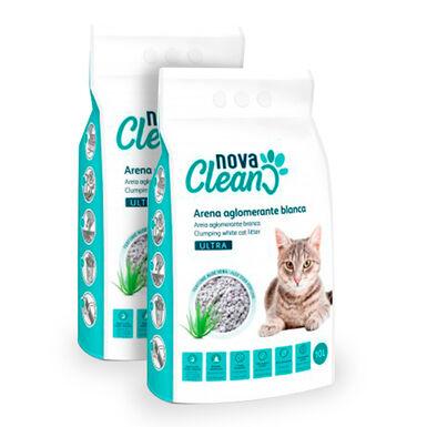Lecho Aglomerante Nova Clean Ultra 10 litros para gato - 2x10 L Pack Ahorro