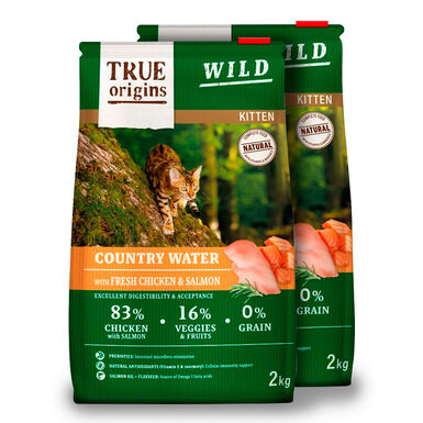 True Origins Wild Kitten Country Water - 2x2 kg Pack Ahorro