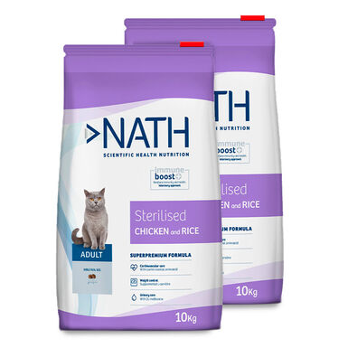 Pienso para gatos Nath Cat Adult Sterilized - 2 x 10 kg