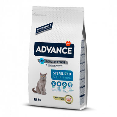 Advance Feline Sterilized pavo y cebada