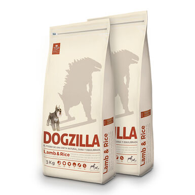 Dogzilla Adult Cordero y arroz - 2x3 kg Pack Ahorro