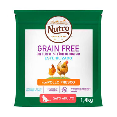 Nutro Grain Free para gatos esterilizados de pollo 1,4 kg