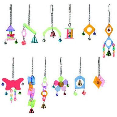 Flamingo juguetes colgantes para pájaros