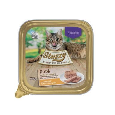 Mister Stuzzy Sterilized pollo comida húmeda gato