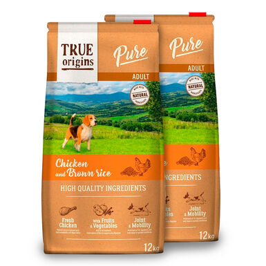 True Origins Pure Dog Adult Pollo - 2x12 kg Pack Ahorro