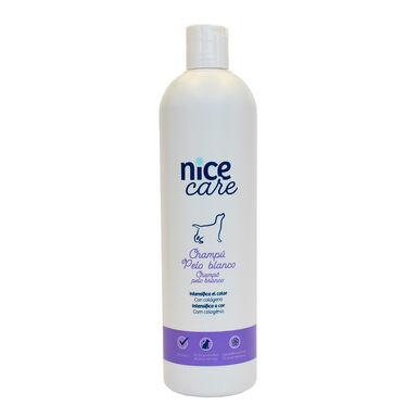 Champú Nice Care varios formatos para perros con pelo blanco