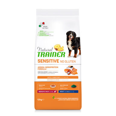 Natural Trainer Sensitive No Gluten Salmón pienso para perros