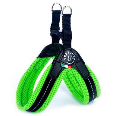 Tre Ponti acolchado verde arnés para perros
