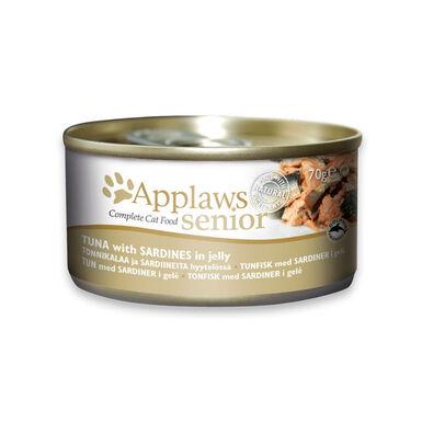 Pack 24 latas comida húmeda para gatos mayores Applaws Senior atún y sardina