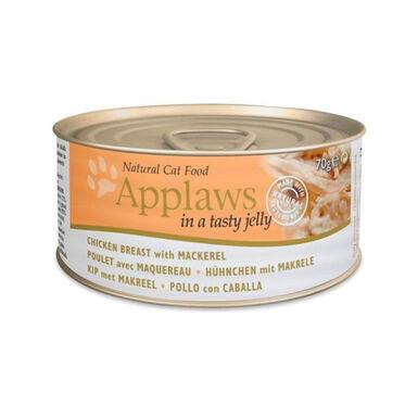 Pack 24 latas comida húmeda para gatos Applaws 70gr sabores variados