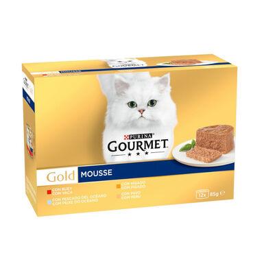 Latas Gourmet Gold Mousse 8 x 85 gr