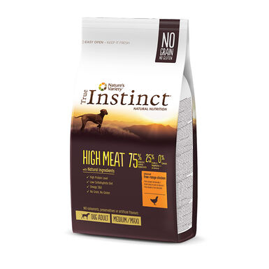 True Instinct High Meat Medium/Maxi Adult con pollo y aves