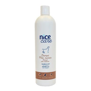 Champú Nice Care varios formatos para perros con pelo marrón