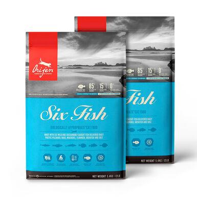 Orijen Feline 6 Fish - 2x5,4 kg Pack Ahorro