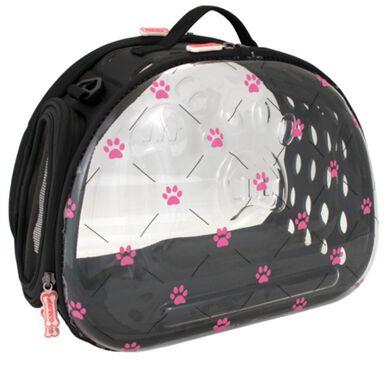 Nayeco Pink Paws bolsa transparente plegable