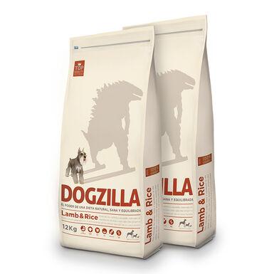 Dogzilla Adult Cordero y arroz - 2x12 kg Pack Ahorro