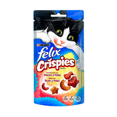 Pack 8 bolsitas Felix Crispies Snack para Gatos 45 gr