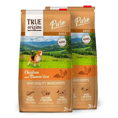 True Origins Pure Dog Adult Pollo - 2x3 kg Pack Ahorro