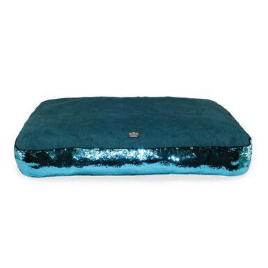 Glitter colchón turquesa para perros