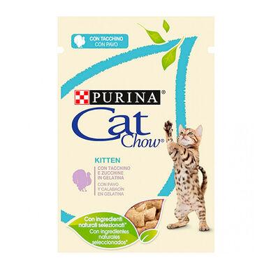 Pack 24 Pouches Comida húmeda para gatito Cat Chow con pavo