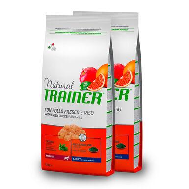 Natural Trainer Adult Medium pollo - 2x12 kg Pack Ahorro