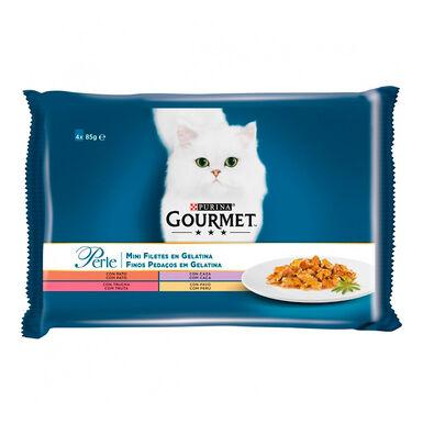 Gourmet Perle finas láminas en gelatina 4x85 gr
