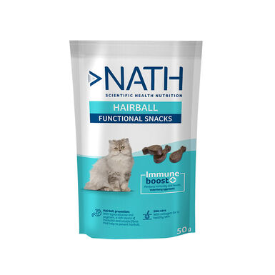 Snack para gatos Nath Adult Hairball 50 gr