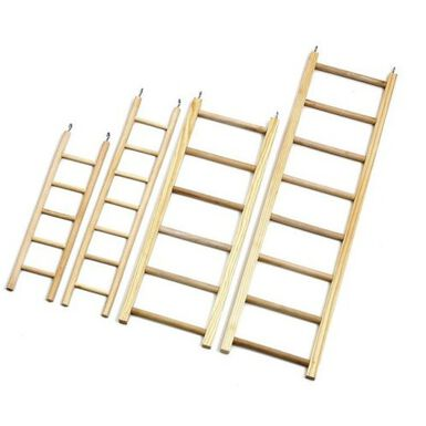 Flamingo escaleras de madera para pájaros