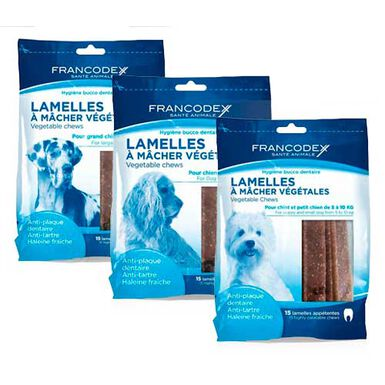 Francodex láminas snack dental para perros