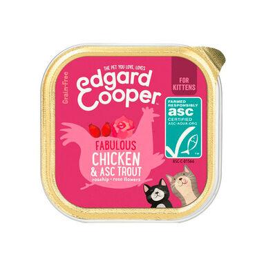 Tarrina Edgard & Cooper Kitten pollo y trucha para gatito 85 gr