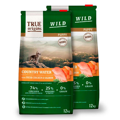 True Origins Wild Dog Country Water Puppy - 2x12 kg Pack Ahorro