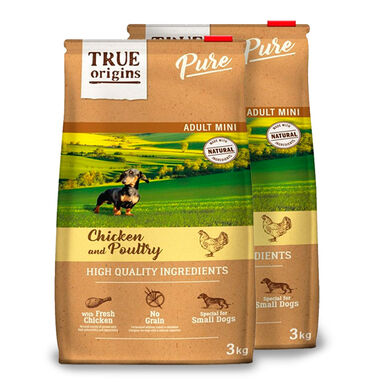 True Origins Pure Dog Adult Mini Pollo - 2x3 kg Pack Ahorro