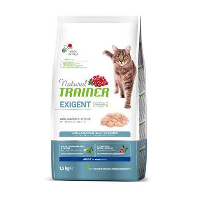 Pienso para gatos Natural Trainer Adult Exigent con carne 1,5 kg