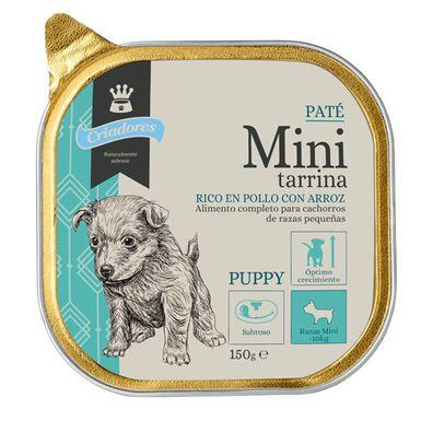 Criadores Mini Tarrina Pollo-arroz paté para perro
