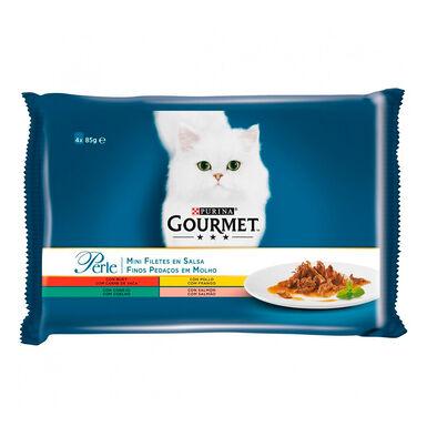 Gourmet Perle Finas láminas en salsa 4x85 gr
