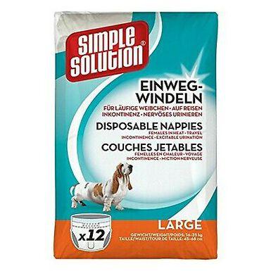 Simple Solution pañales para perros desechables