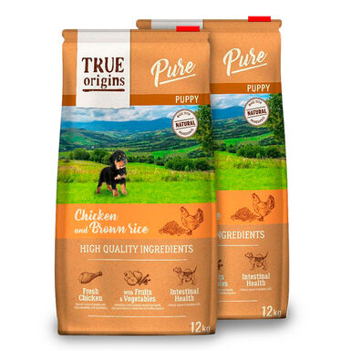 True Origins Pure Dog Puppy Pollo - 2x12 kg Pack Ahorro