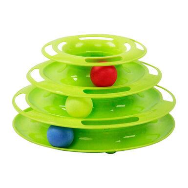 Juguete torre con pelotas para gato