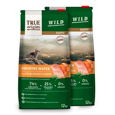 True Origins Wild Dog Country Water Puppy - 2x3 kg Pack Ahorro
