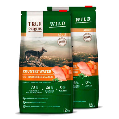 True Origins Wild Dog Country Water Adult - 2x12 kg Pack Ahorro