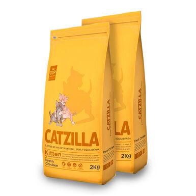 Catzilla Kitten pollo - 2x6 kg Pack Ahorro